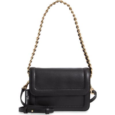 The Marc Jacobs The Mini Cushion Leather Shoulder Bag - Black