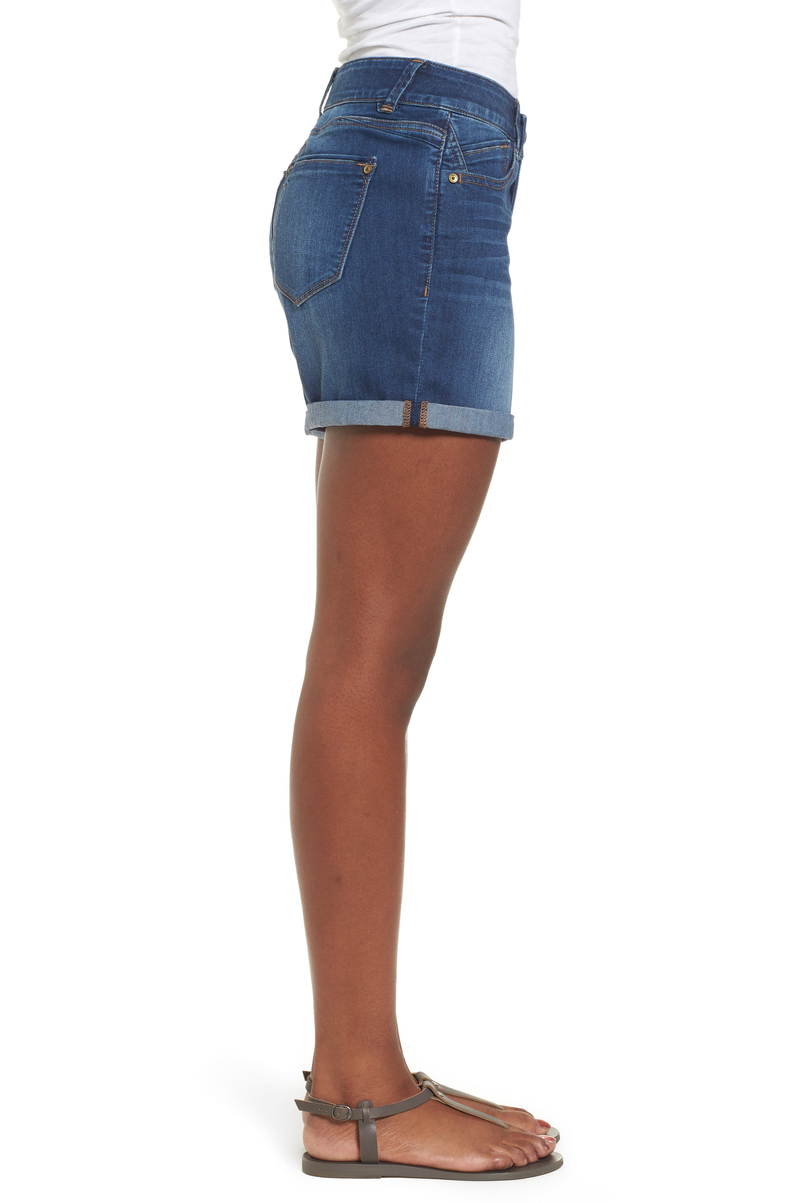 ,                             Ab-solution Cuffed Denim Shorts,                             Alternate thumbnail 4, color,                             BLUE