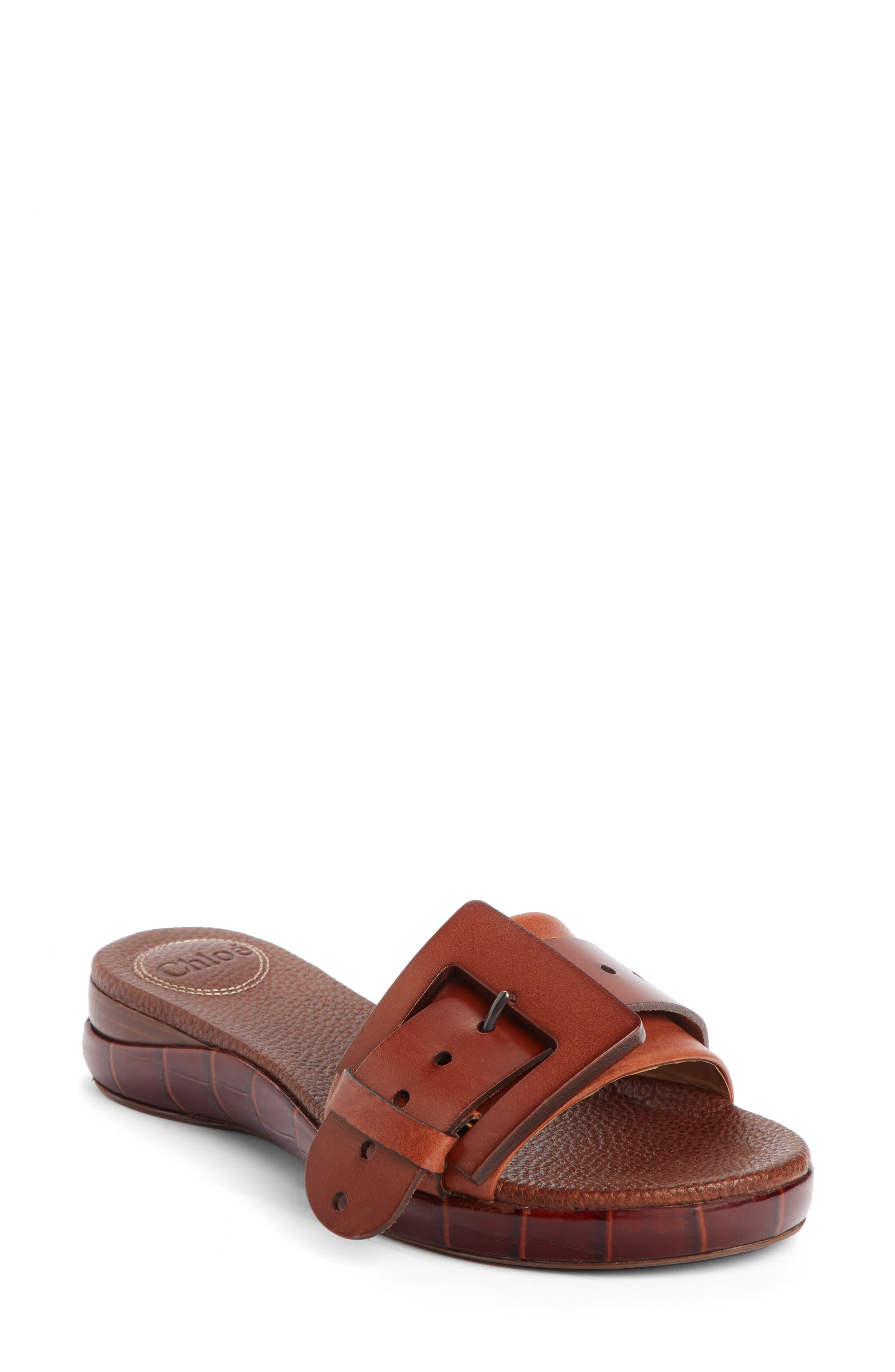 Willy Buckle Slide Sandal, Main, color, 200