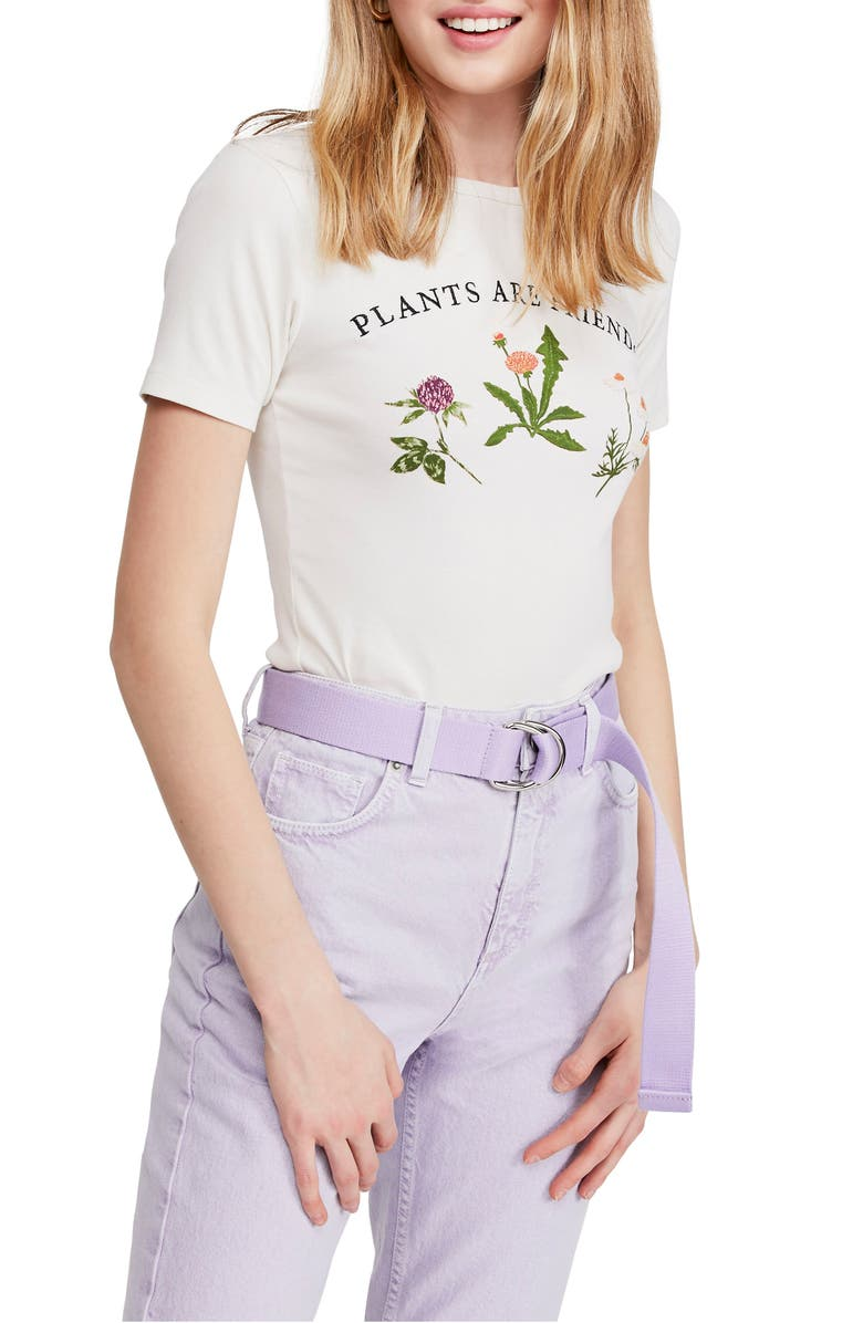 BDG Urban Outfitters Plants Are Friends Graphic Baby Tee, Main, color, WHITE