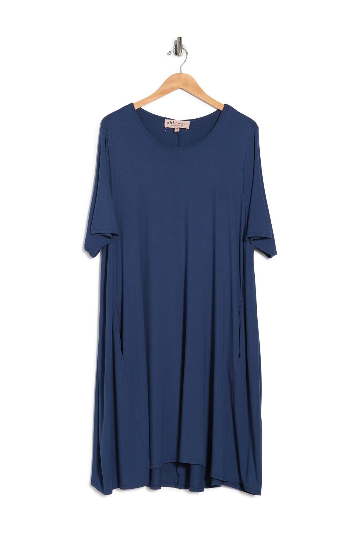 Image of Philosophy Apparel Elbow Sleeve Knit Swing Dress