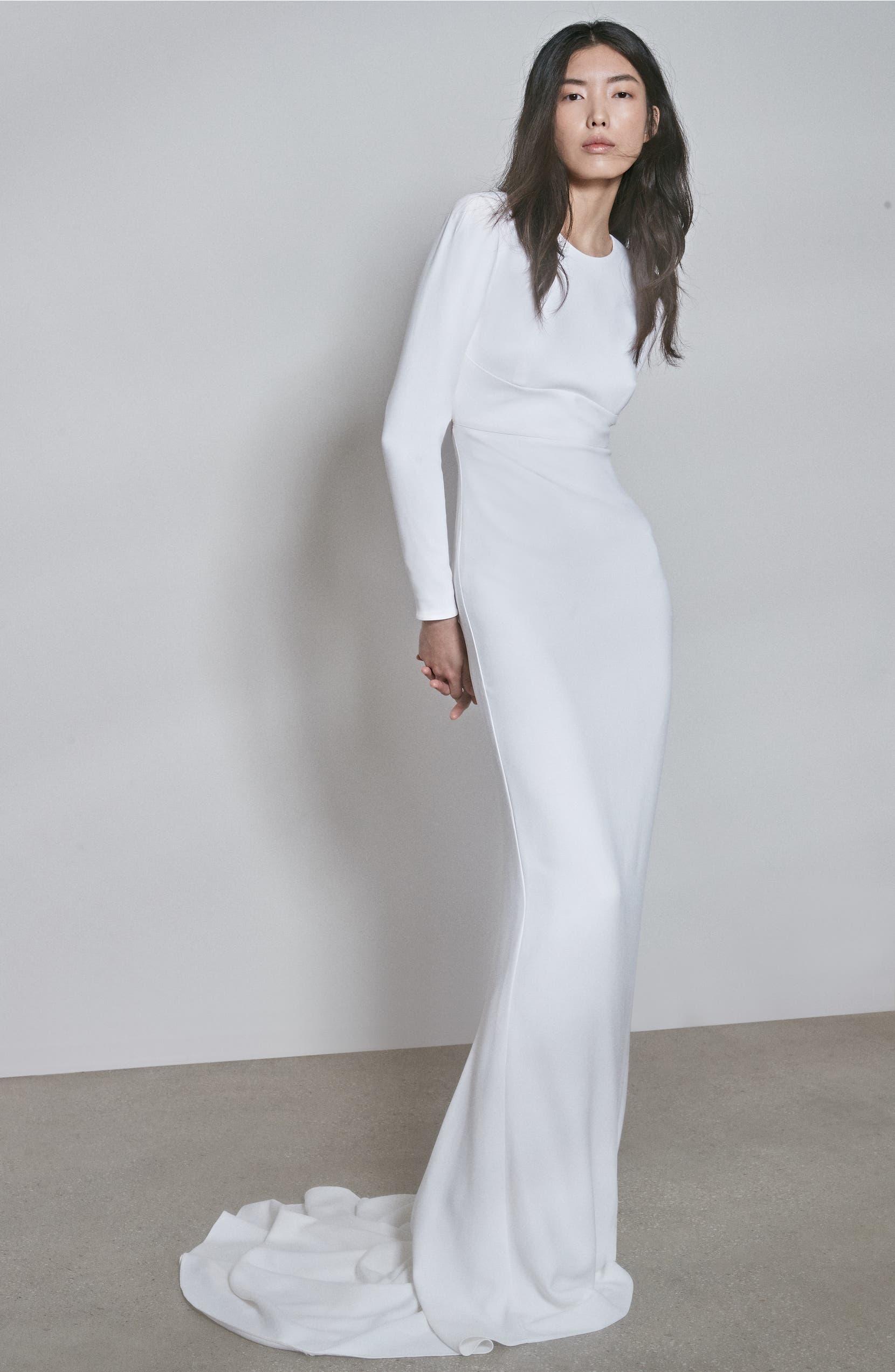 fc0ef0570f Stella McCartney F18 Ruby Long Sleeve Cutout Wedding Dress | Nordstrom