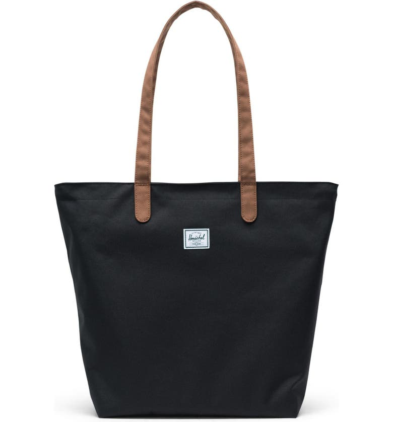 HERSCHEL SUPPLY CO. Mica Tote, Main, color, BLACK/ SADDLE BROWN