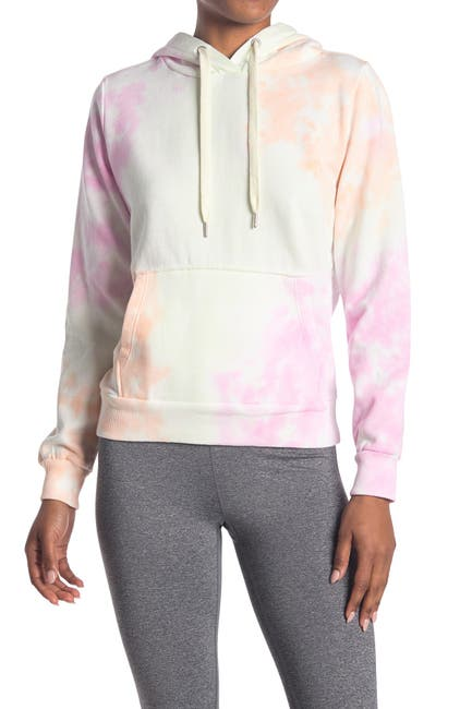 Image of 90 Degree By Reflex Tie-Dye Brushed Pullover Hoodie