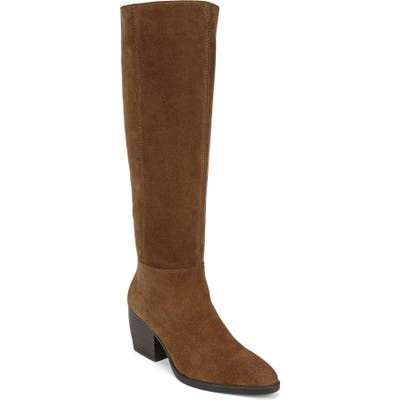 Naturalizer Fae Tall Boot Wide Calf- Brown