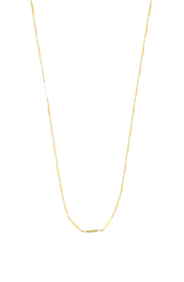 BONY LEVY Flat Section Chain Necklace, Main, color, YELLOW GOLD