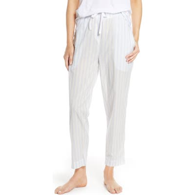 Papinelle Whale Beach Stripe Pajama Pants, Blue