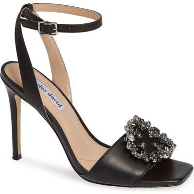 Charles David Vanity Crystal Embellished Sandal, Black