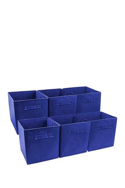 Image of Sorbus Royal Blue Foldable Storage Cube Basket Bin - 6 Pack