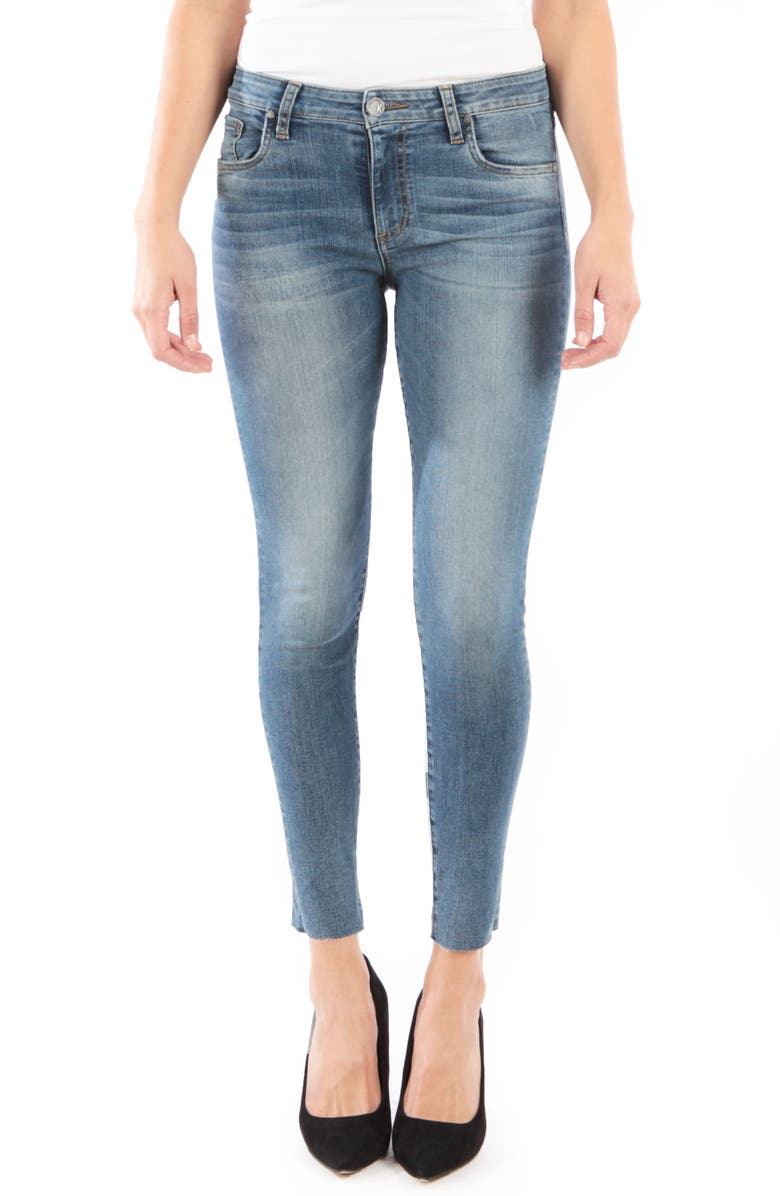 KUT FROM THE KLOTH Donna High Waist Raw Hem Skinny Jeans, Main, color, 481