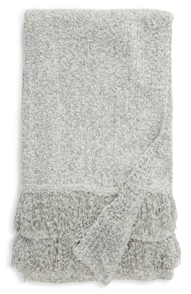 NORDSTROM Fringe Speckle Knit Throw Blanket, Main, color, 069
