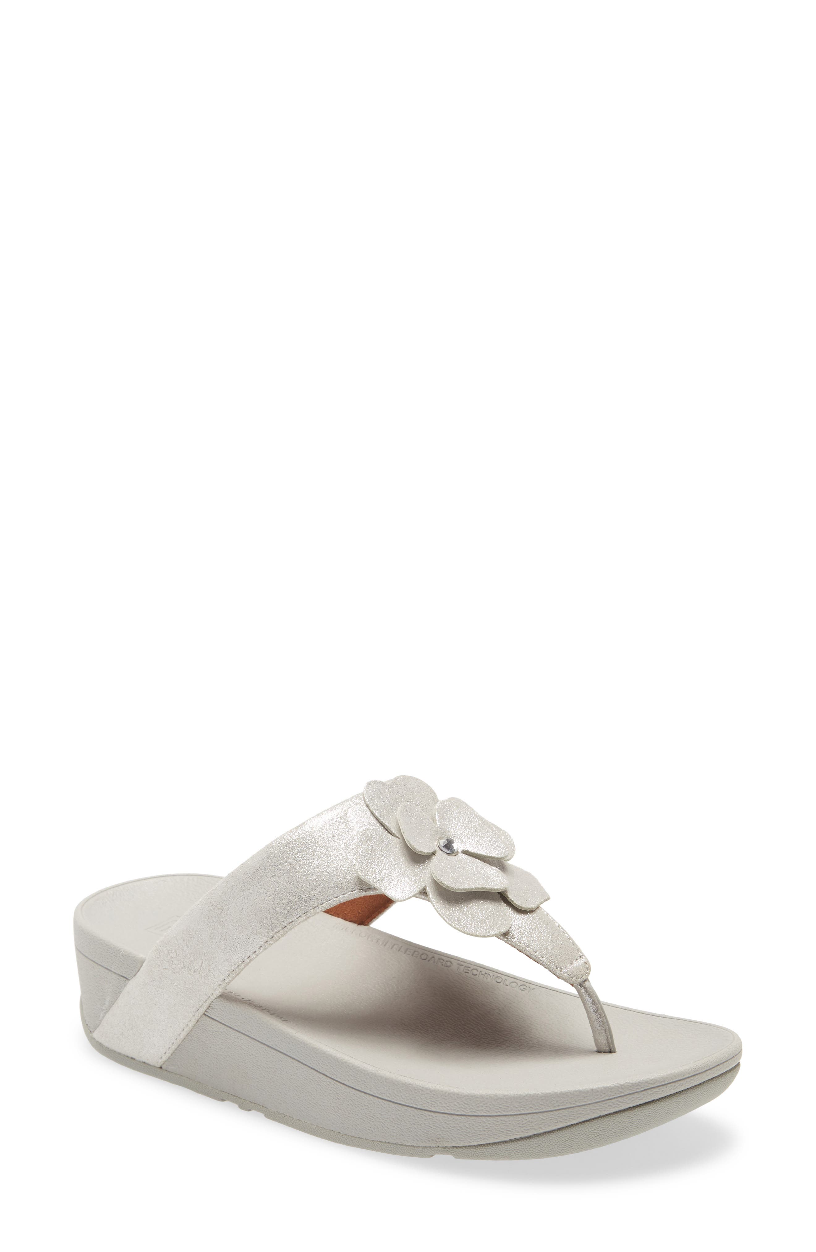 Lottie Crystal Flower Wedge Flip Flop