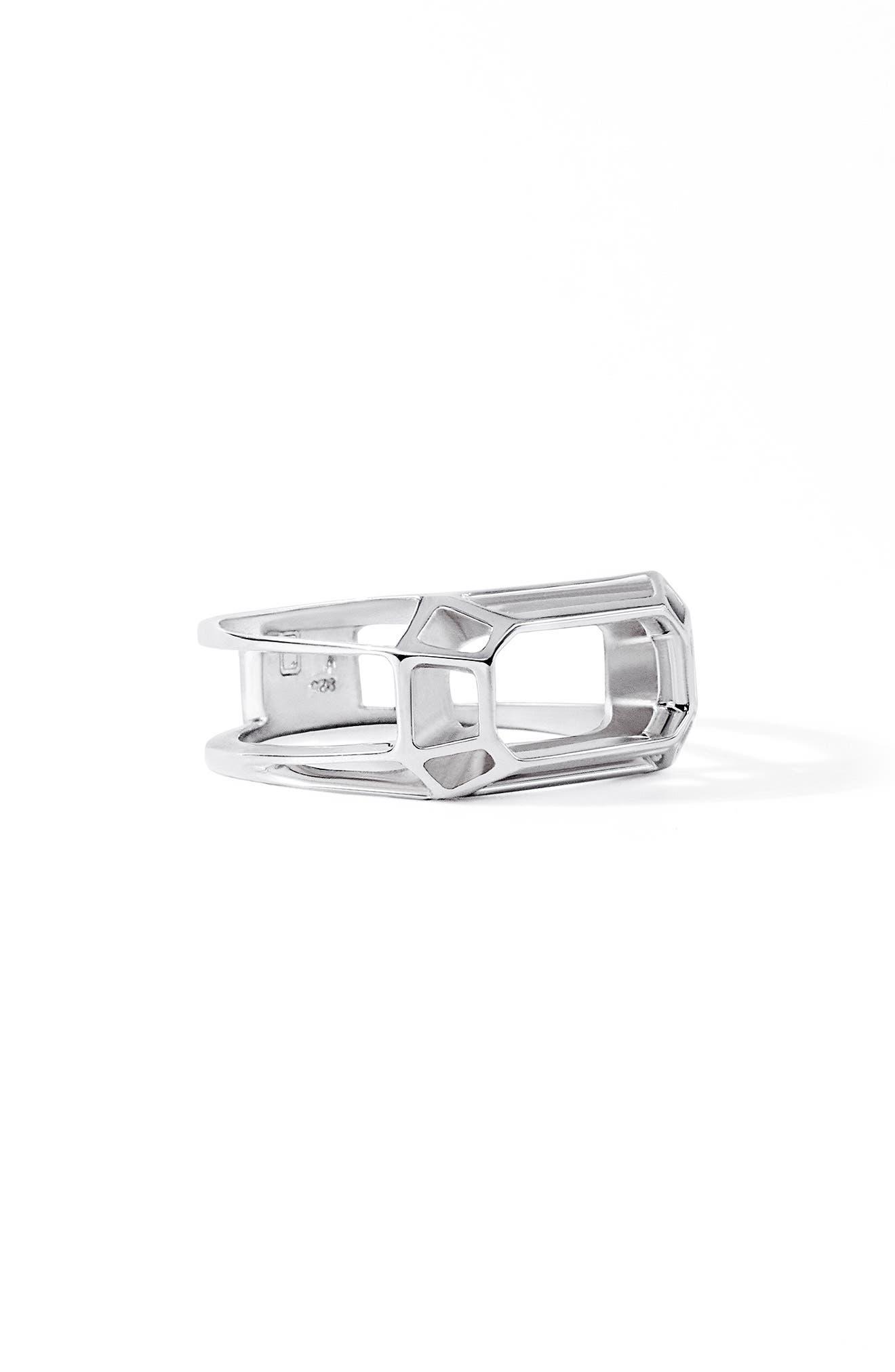 Jim Outline Sterling Silver Signet Ring
