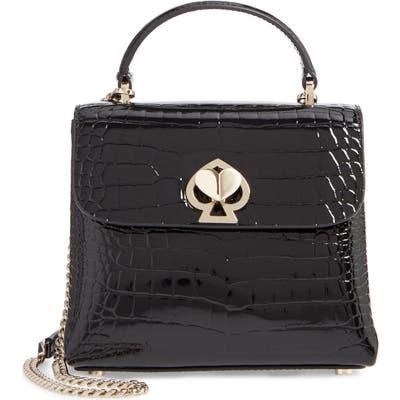 Kate Spade New York Romy Croc-Embossed Leather Top Handle Bag - Black