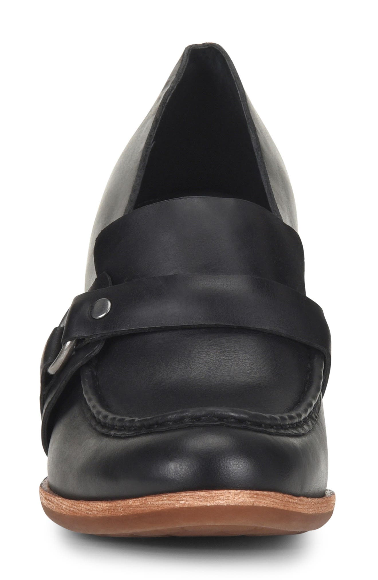,                             Aki Loafer Pump,                             Alternate thumbnail 4, color,                             BLACK LEATHER
