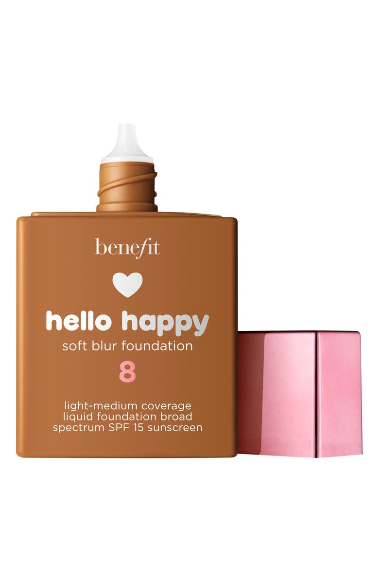 BENEFIT COSMETICS Benefit Hello Happy Soft Blur Foundation SPF 15, Main, color, 8 TAN / WARM