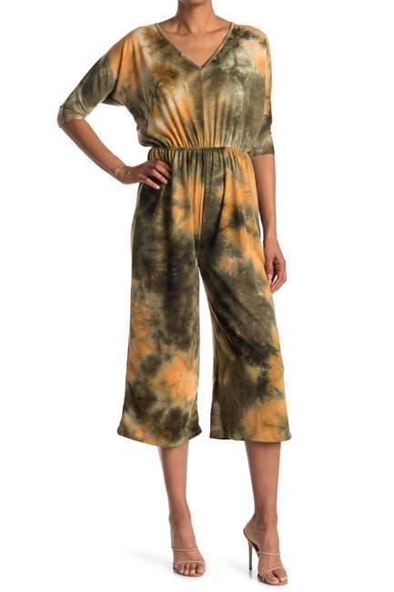 Image of Velvet Torch V-Neck Gaucho Jumpsuit
