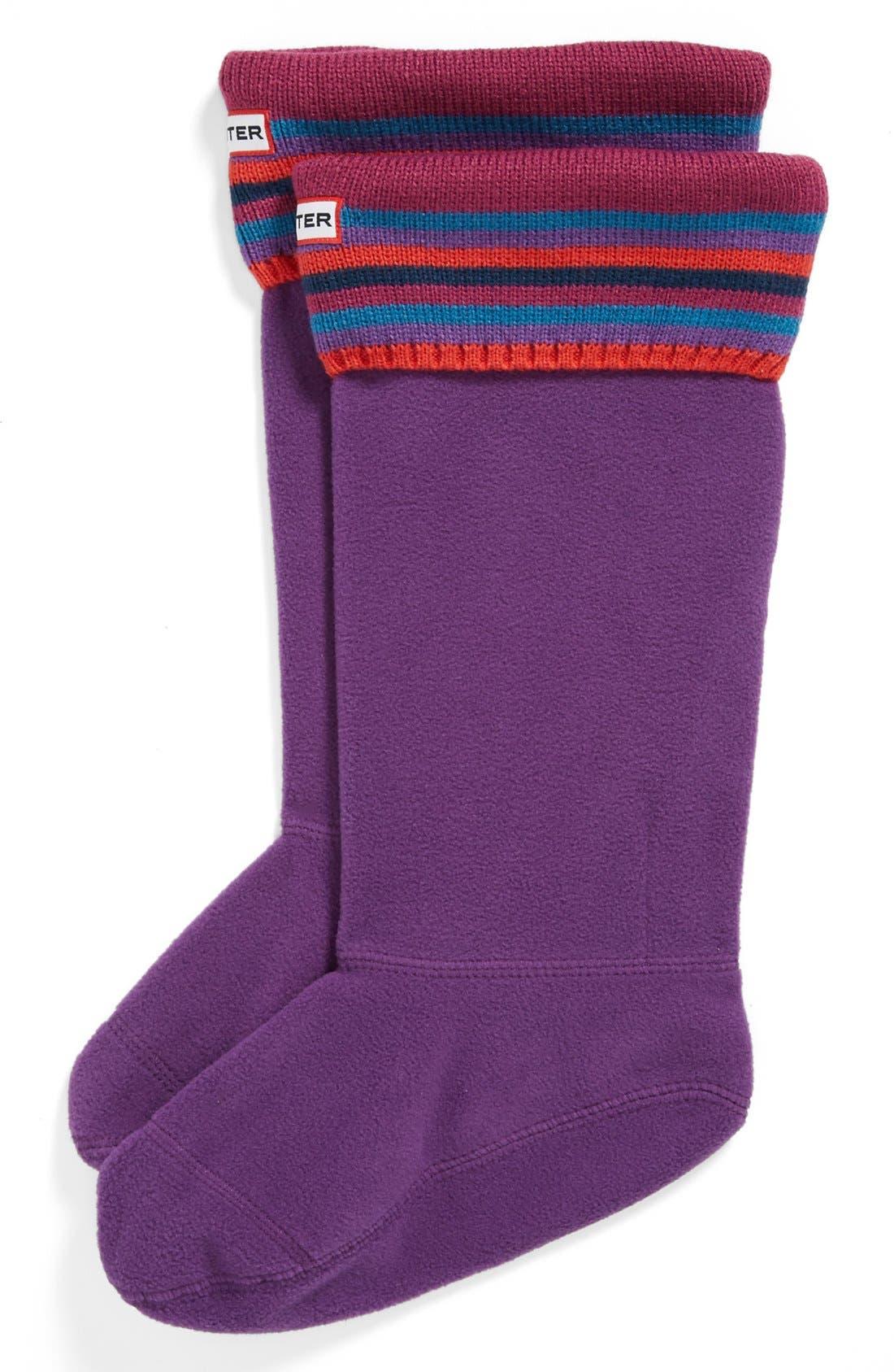 ,                             Tall Stripe Cuff Welly Socks,                             Main thumbnail 9, color,                             523