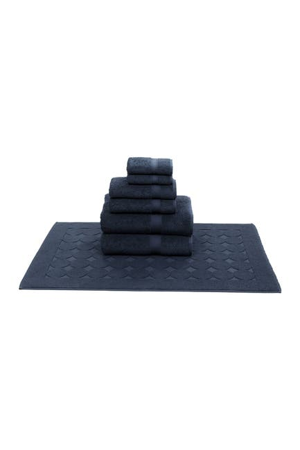 Image of LINUM TOWELS Sinemis Terry 7-Piece Towel Set - Navy