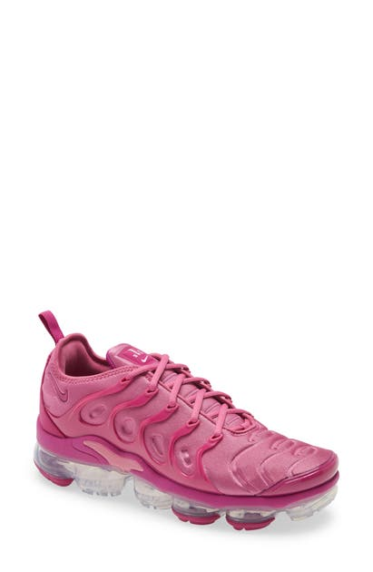 Nike Men's Air Vapormax Plus Running Sneakers From Finish Line In Cosmic Fuchsia/ White/ Cactus