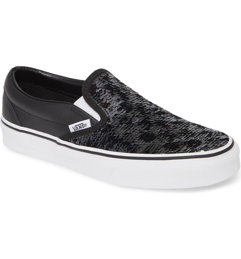 VANS UA Classic Sequin Sneaker, Main, color, CHECKERBOARD/ BLACK