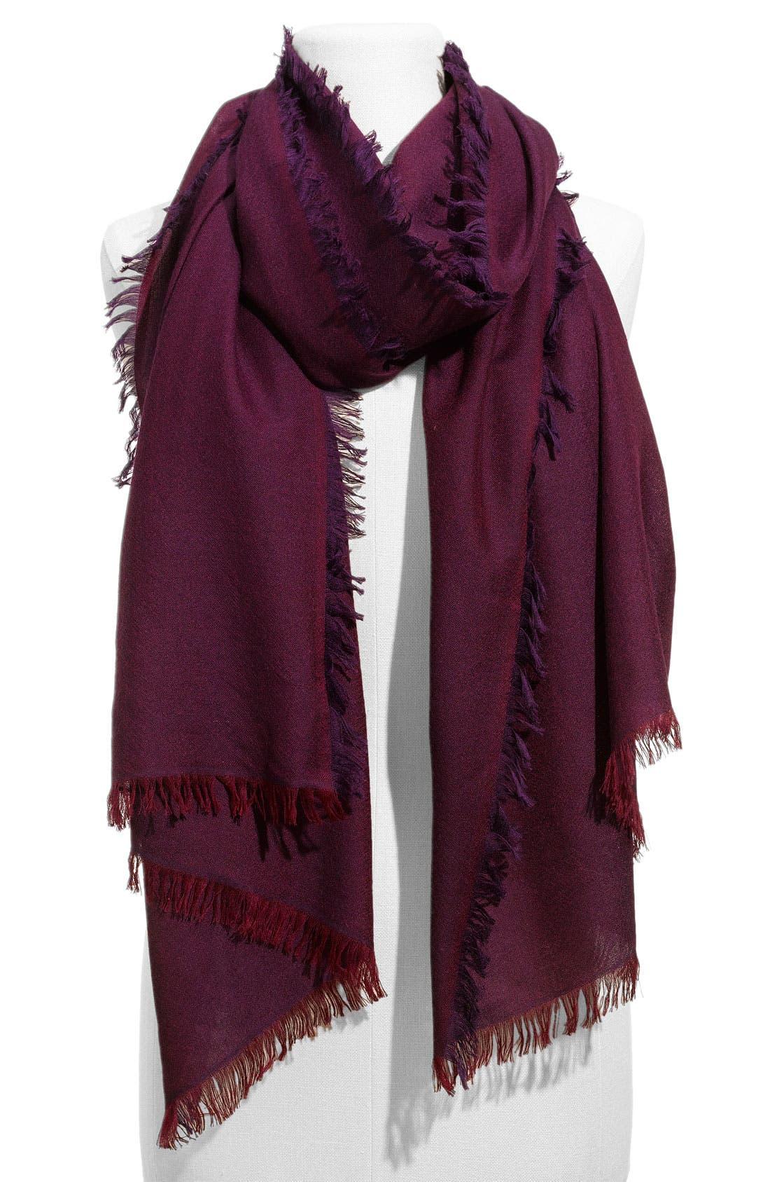 ,                             'Eyelash' Colorblock Cashmere Wrap,                             Main thumbnail 65, color,                             504