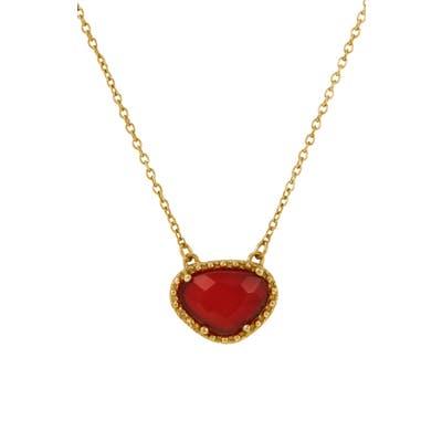Adornia Rose-Cut Stone Pendant Necklace