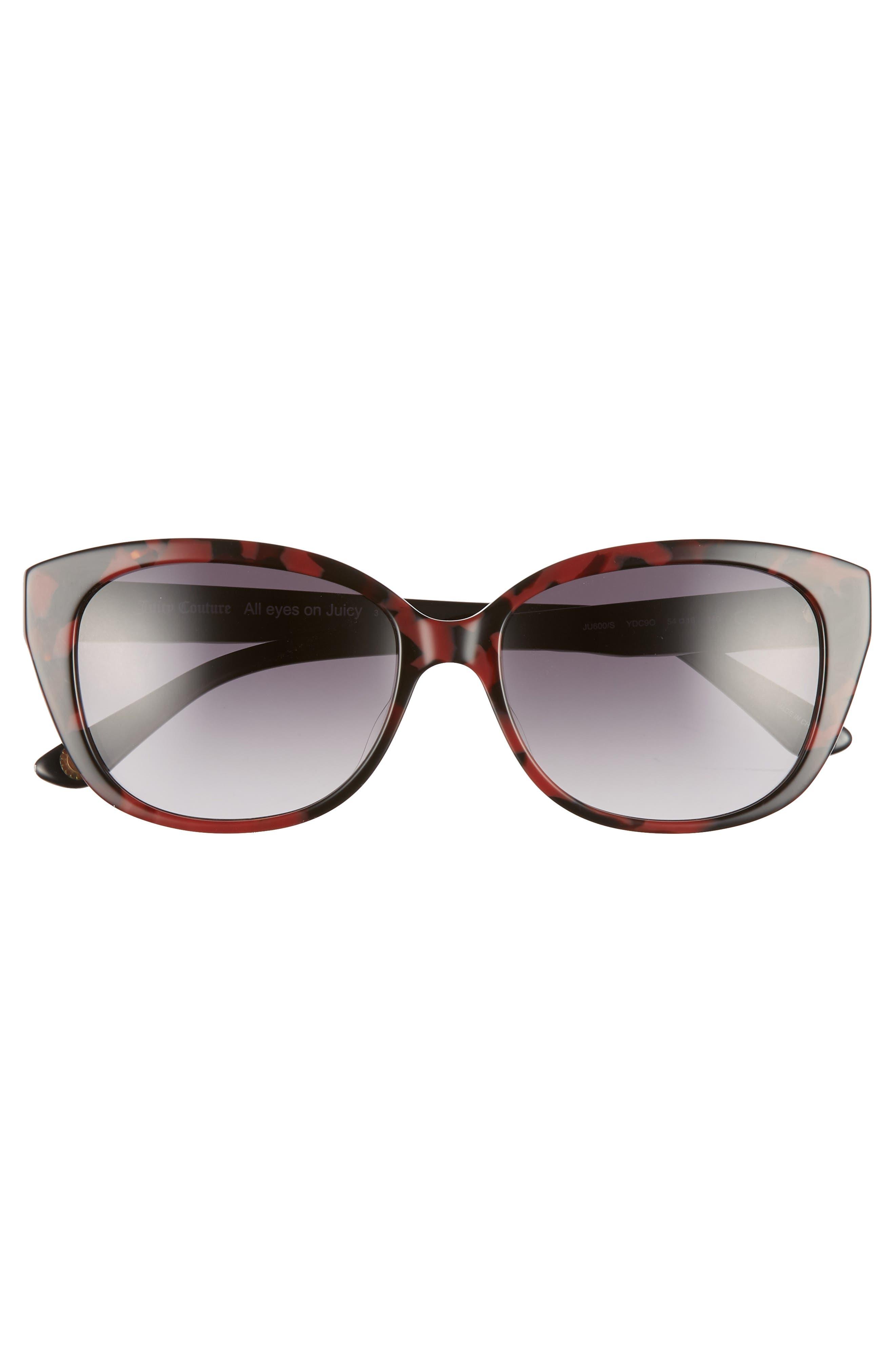 ,                             54mm Cat Eye Sunglasses,                             Alternate thumbnail 3, color,                             DARK HAVANA
