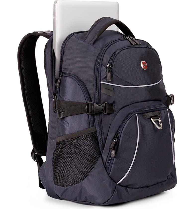 SWISSGEAR 5901 Laptop Backpack, Main, color, NOIR SATIN