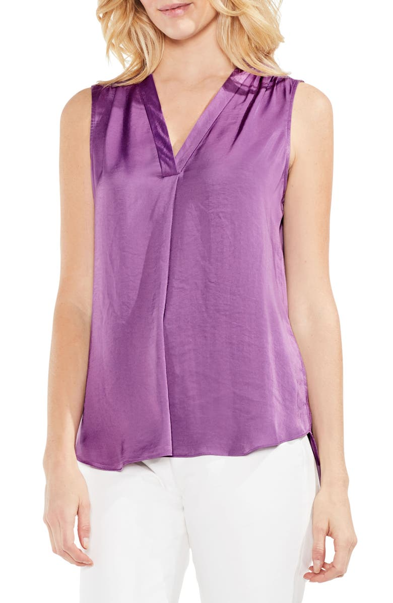 VINCE CAMUTO Rumpled Satin Blouse, Main, color, NEW TULIP