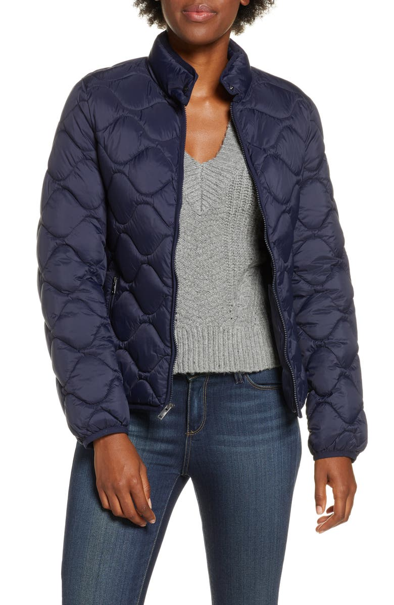 UGG<SUP>®</SUP> Selda Packable Water Resistant Quilted Jacket, Main, color, NAVY