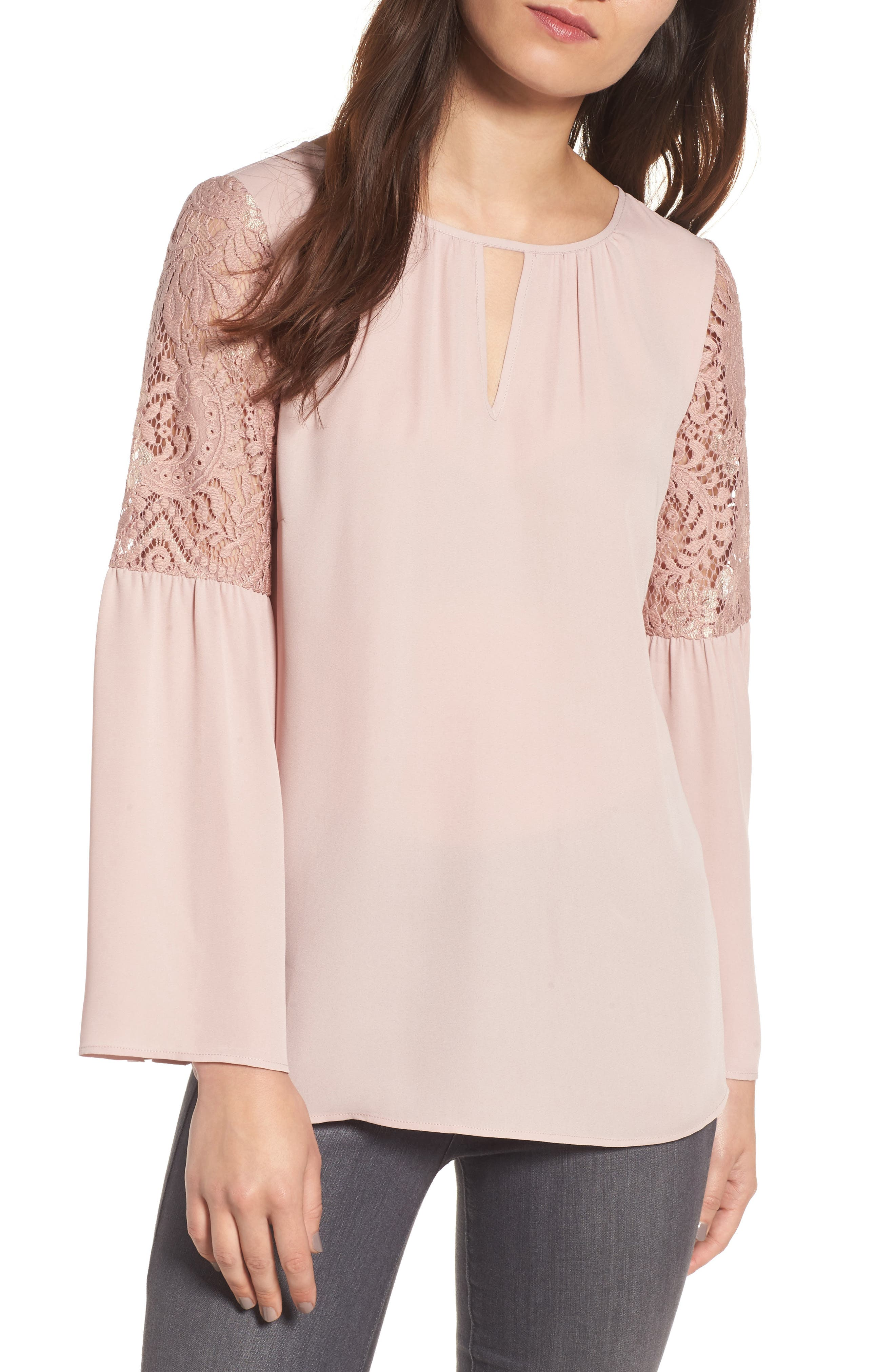 ,                             Lace Bell Sleeve Top,                             Main thumbnail 26, color,                             680