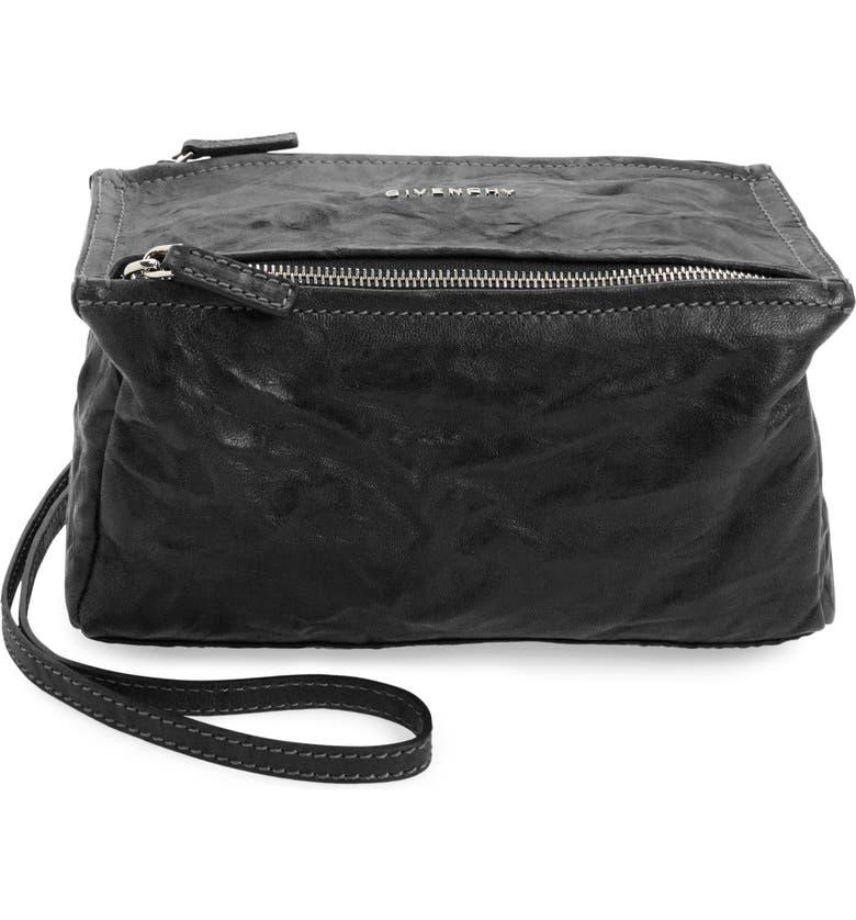 badfc144432a3 'Mini Pepe Pandora' Leather Shoulder Bag, Main, color, BLACK '