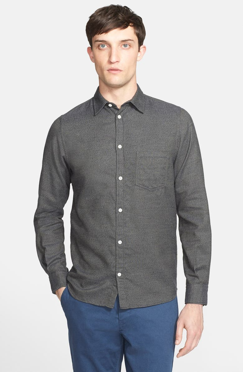 88d34bebf8f Norse Projects 'Anton' Trim Fit Brushed Flannel Shirt | Nordstrom