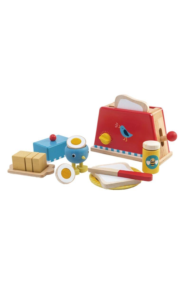 TENDER LEAF TOYS Toaster & Egg Play Set, Main, color, MULTI