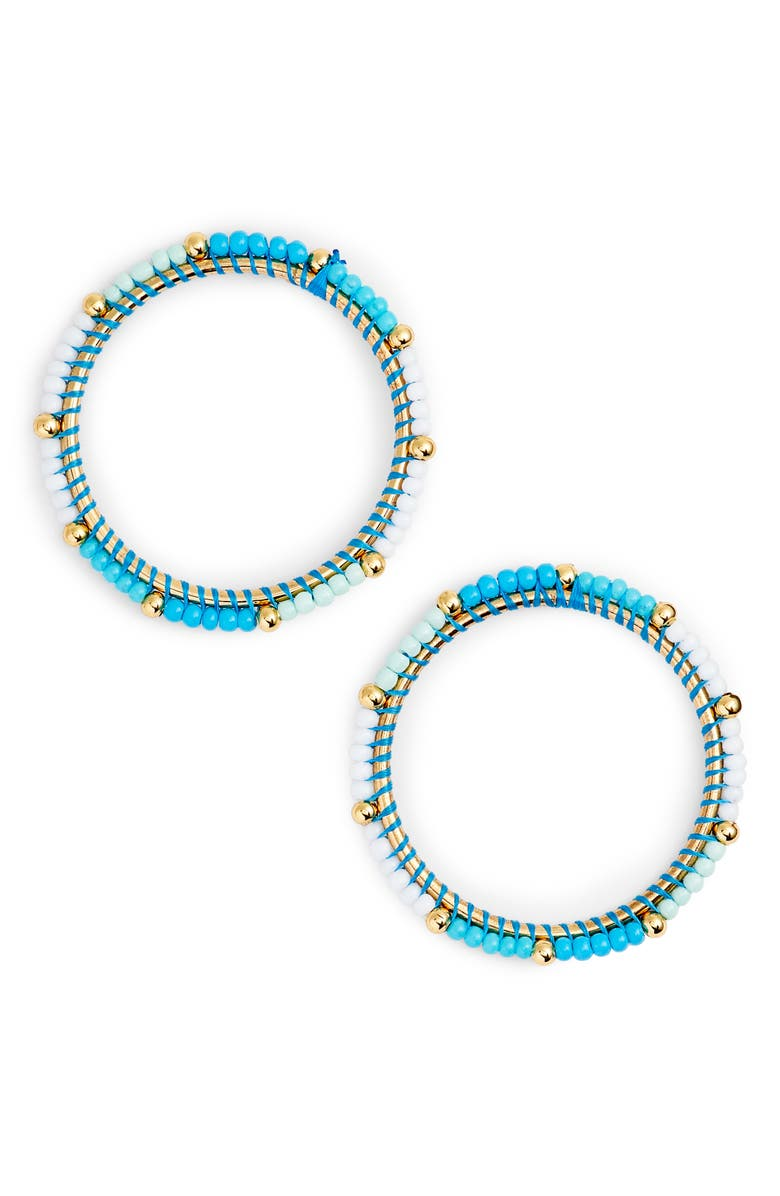 REBECCA MINKOFF Beaded Hoop Earrings, Main, color, 439