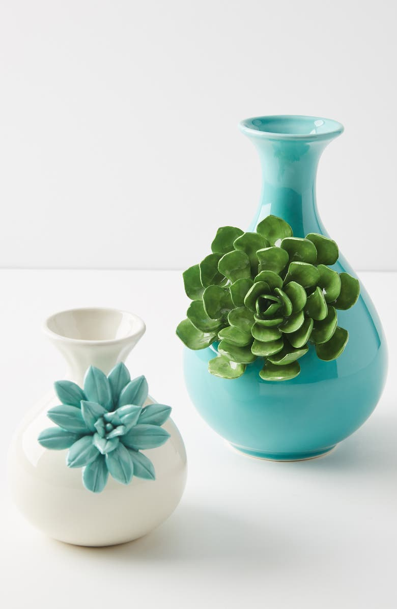 ANTHROPOLOGIE HOME Anthropologie Succulent Vase, Main, color, 100