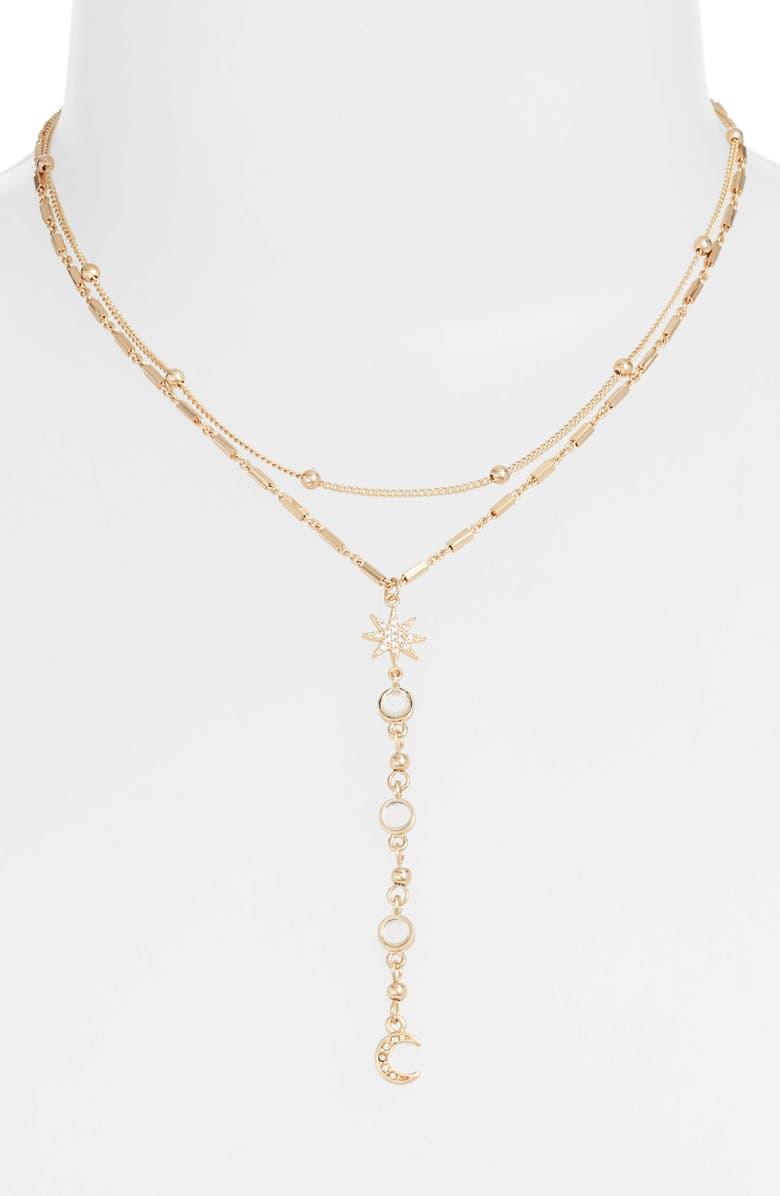 ETTIKA Lariat Choker Necklace, Main, color, GOLD