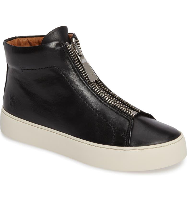 FRYE Lena Zip High Top Sneaker, Main, color, 001