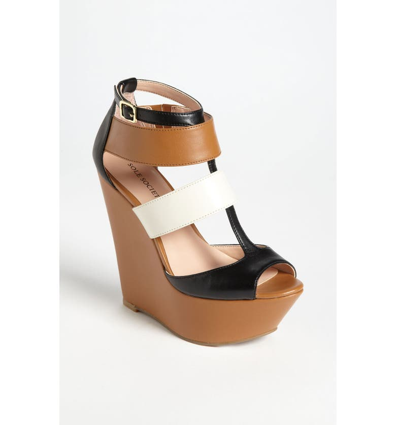 SOLE SOCIETY 'Emma' Wedge Sandal, Main, color, 200