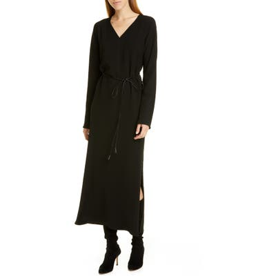 Lafayette 148 New York Thurmen Belted Long Sleeve Dress, Black
