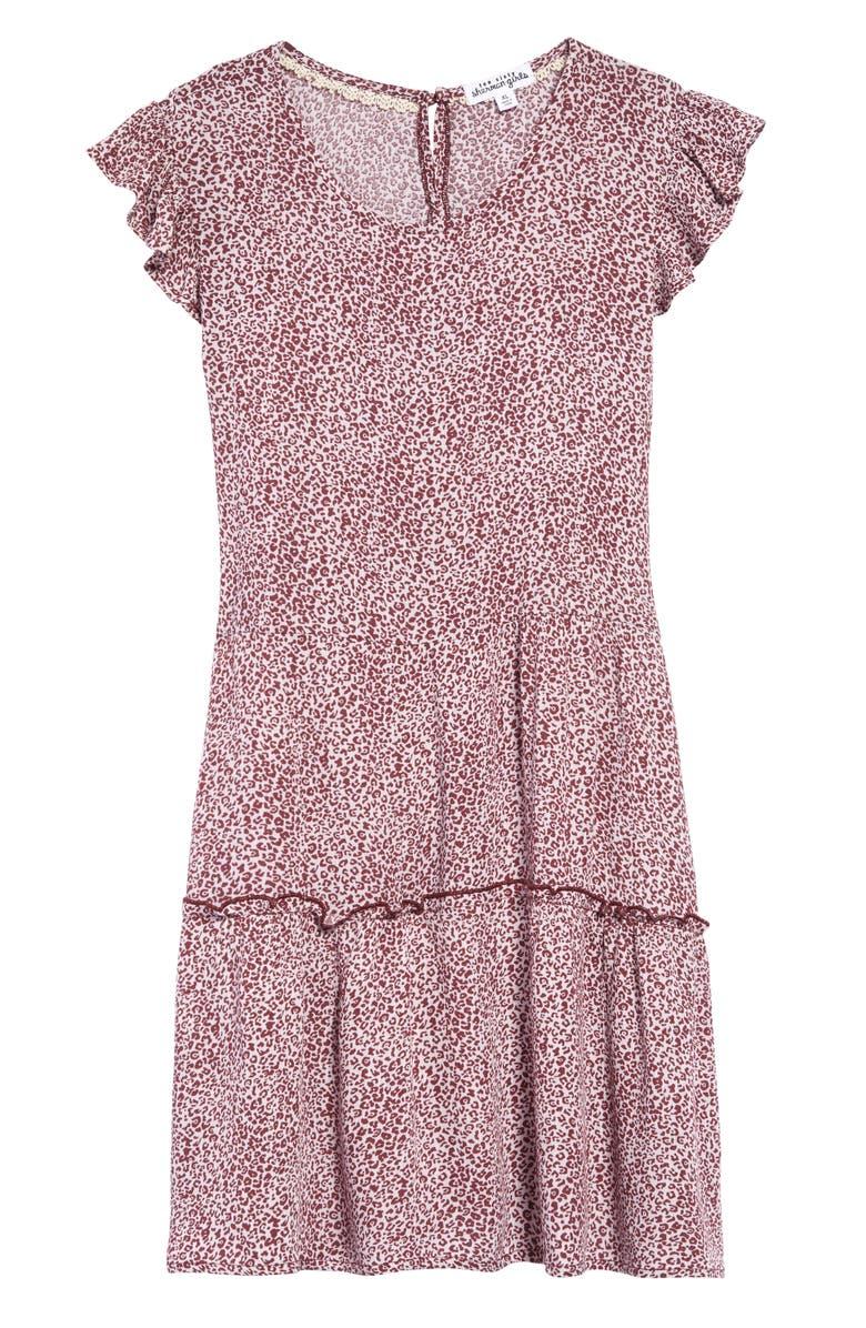 TEN SIXTY SHERMAN Ruffle Sleeve Dress, Main, color, 680