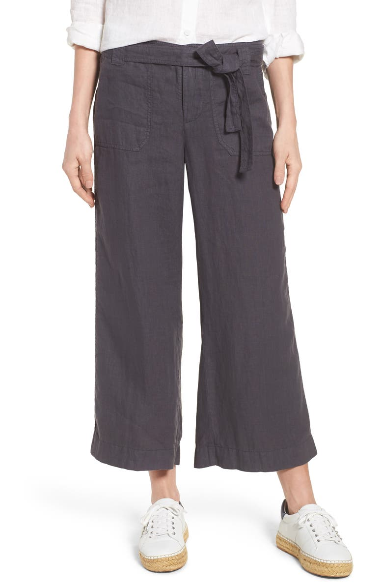 Wide Leg Crop Linen Pants by Caslon®