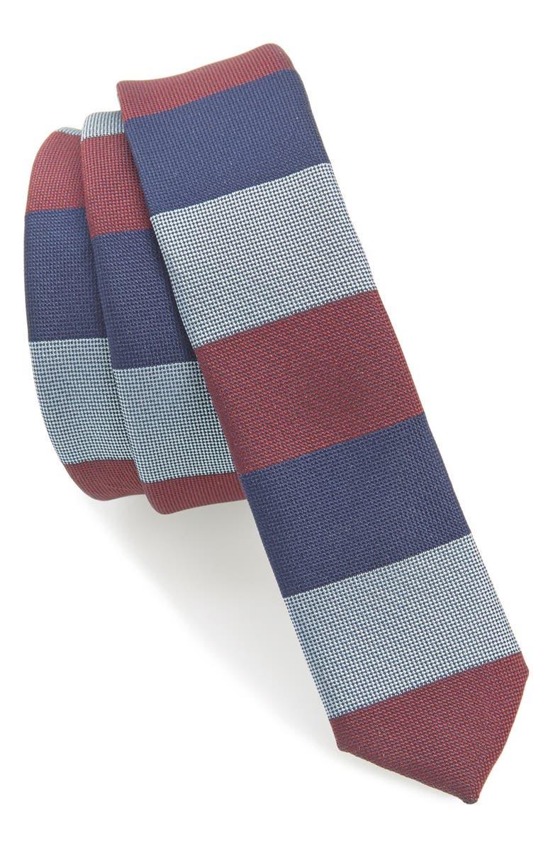 TOPMAN Stripe Tie, Main, color, 400