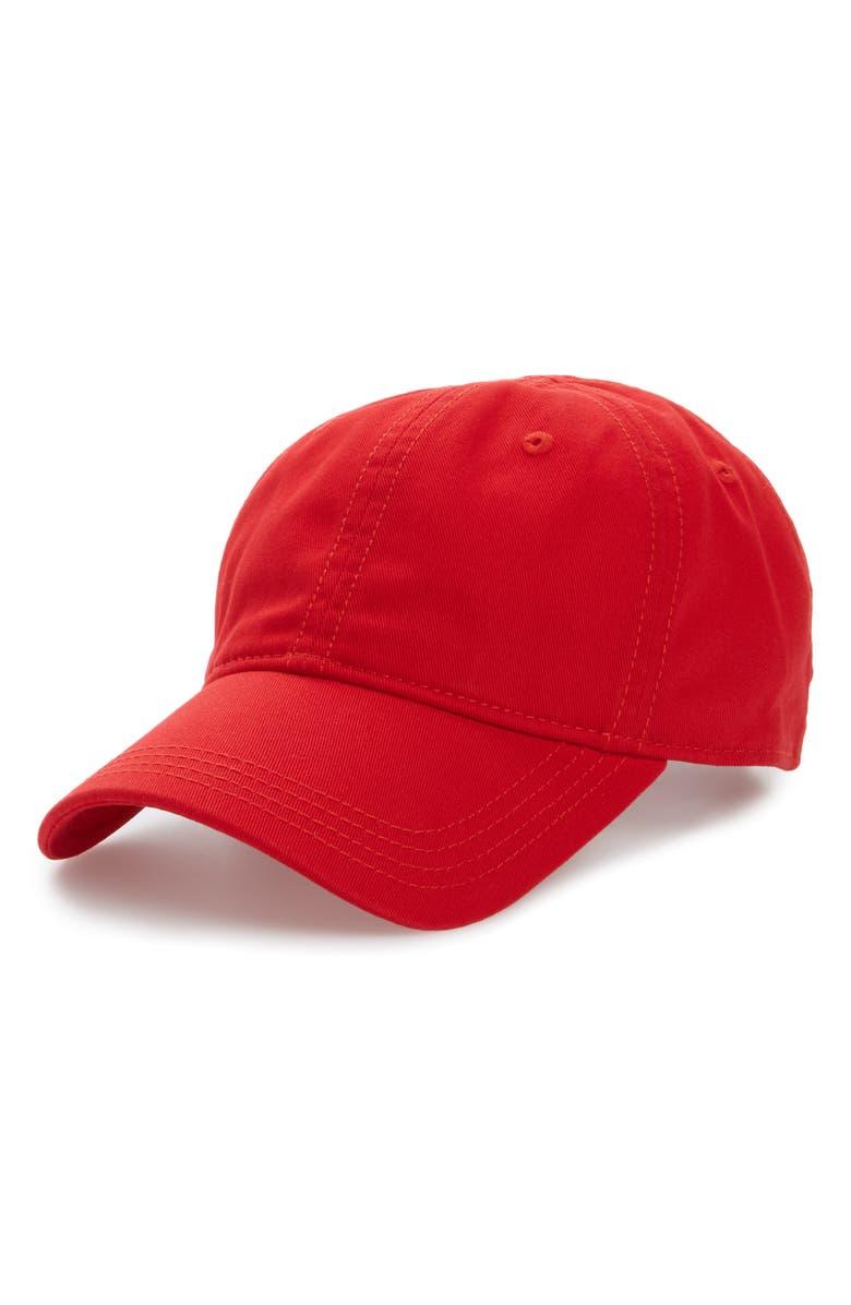 LACOSTE 'Classic' Cap, Main, color, RED