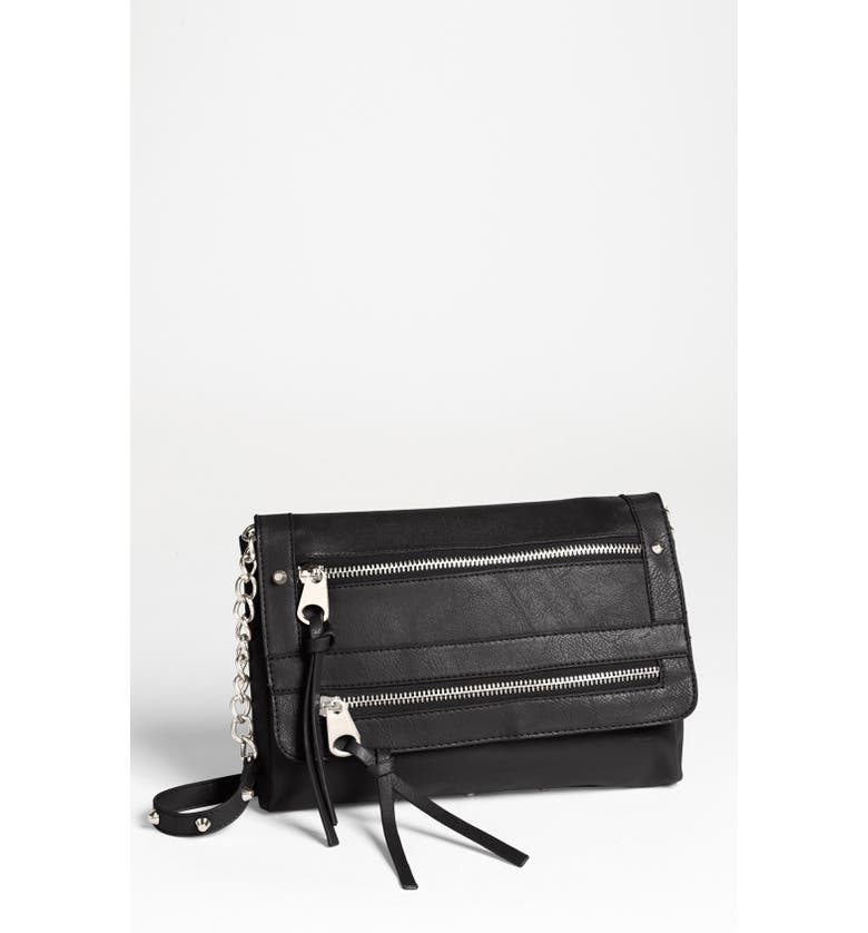 CESCA '15th Street' Faux Leather Crossbody Bag, Small, Main, color, 001