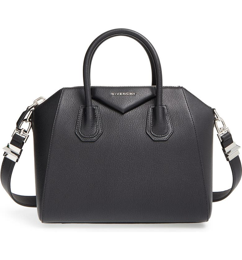 GIVENCHY 'Small Antigona' Sugar Leather Satchel, Main, color, 001