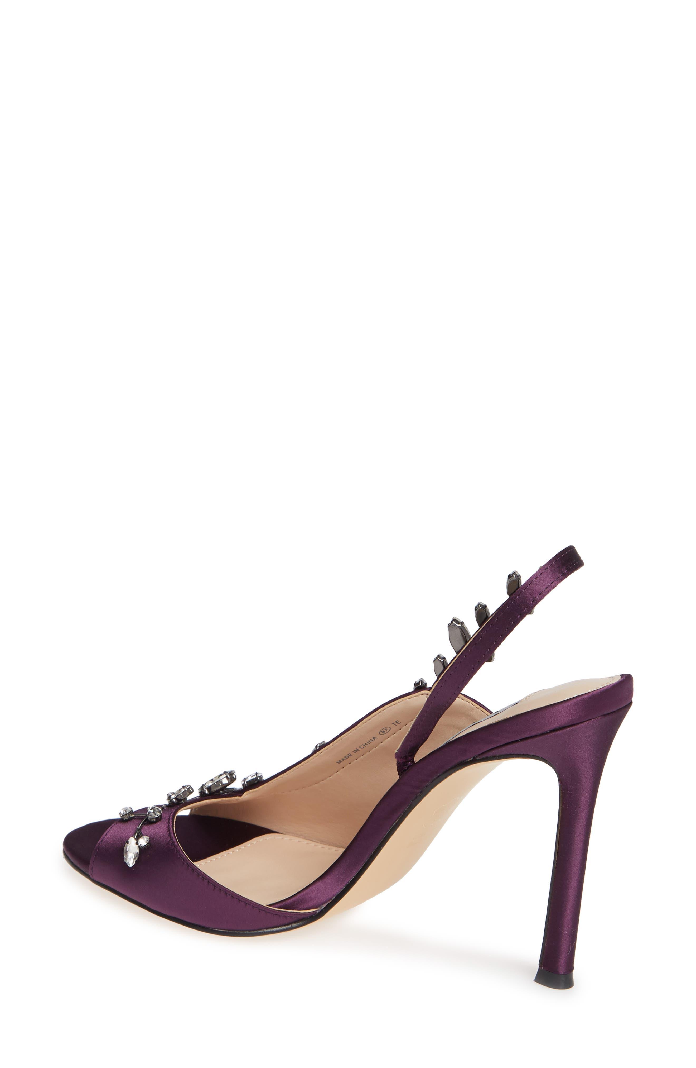 ,                             Deanna Embellished Sandal,                             Alternate thumbnail 2, color,                             EGGPLANT SATIN