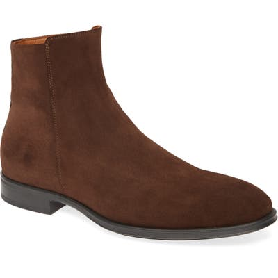 Aquatalia Daniel Zip Boot- Brown