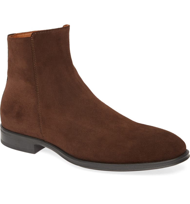 AQUATALIA Daniel Zip Boot, Main, color, BROWN SUEDE